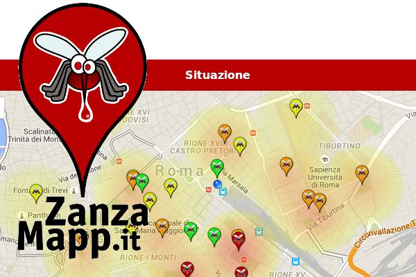 Problema zanzare? L'app ZanzaMapp le localizza