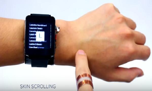 SkinTrack e la pelle diventa touchscreen