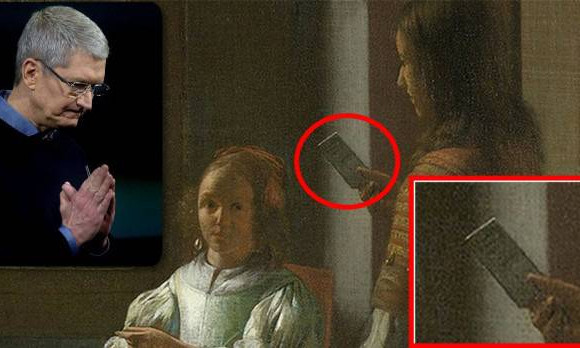 "Tim Cook ""scopre"" un iPhone in un quadro del 1670"