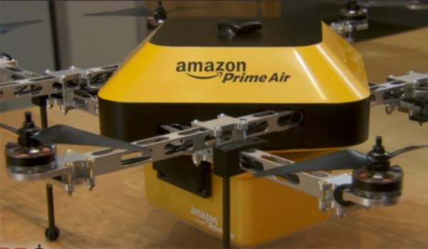 Amazon testa i suoi droni in Inghilterra