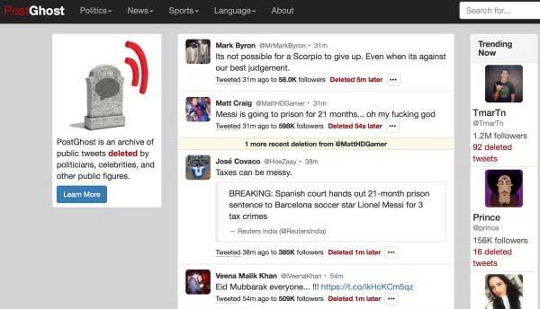 Twitter chiude PostGhost, il sito che mostrava i tweet cancellati dai vip